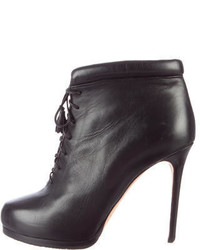 Theory Leather Platform Ankle Boots