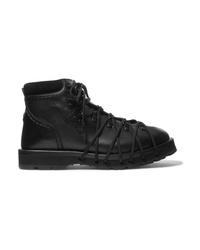 Moncler Genius 6 Noir Kei Ninomiya Med Leather Ankle Boots