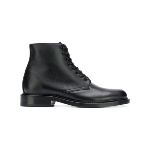 ca0ba5959ae Saint Laurent Army Ankle Boots, $1,019 | farfetch.com | Lookastic.com