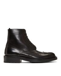 Saint Laurent Black Army Brogues Boots