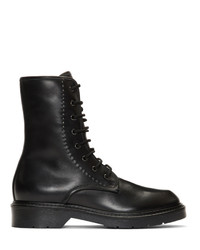 Max Mara Black Becky Lace Up Boots