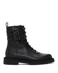 Valentino Black Garavani Combat Boots