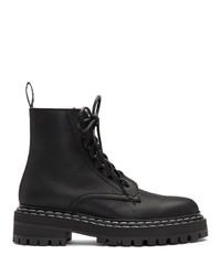 Proenza Schouler Black Lace Up Ankle Boots