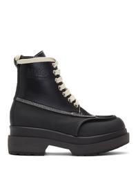 MM6 MAISON MARGIELA Black Mid Calf Combat Boots
