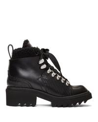 Chloé Black Shearling Bella Mountain Boots