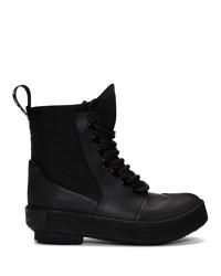 Proenza Schouler Black Smooth Rubber Boot