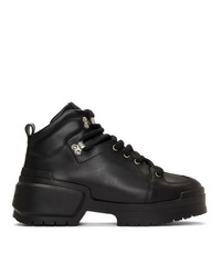 Pierre Hardy Black Trap Lace Up Boots