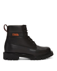 Heron Preston Black Worker Boots