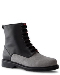 Liebeskind Berlin Calf Hair And Leather Combat Boots