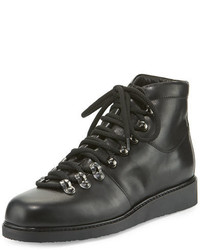 Alberto Fermani Felisa Lace Up Leather Combat Boot Black