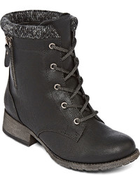 POP Hemet Lace Up Combat Booties