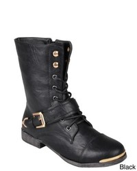 Journee Collection Kellie Medium Round Toe Lace Up Detail Boots