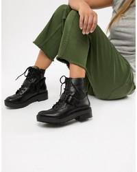 Bershka Lace Up Boot