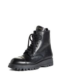 Prada Lace Up Combat Boot