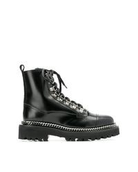Balmain Lace Up Combat Boots