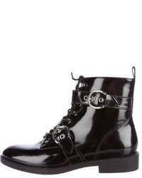 Marc Jacobs Leather Combat Ankle Boots