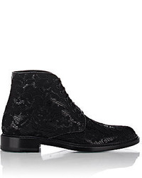 Saint Laurent Lolita Lace Up Boots