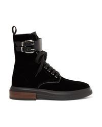 Tod's Med Velvet Ankle Boots