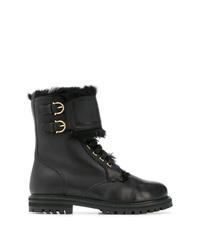 Salvatore Ferragamo Military Boots