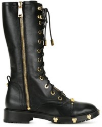 Moschino Logo Plaque Boots