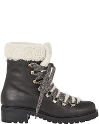 Barneys New York Shearling Lined Garnet Ankle Boots
