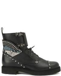 Fendi Studded Combat Boots