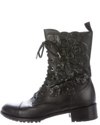 Valentino Techno Couture Combat Ankle Boots