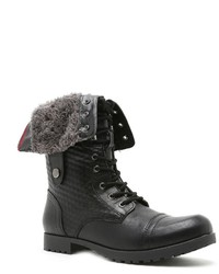 Qupid Wyatte Fold Down Combat Boots