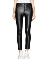 72712 Isabel Marant Etoile Jeffrey Faux Leather Cropped Leggings