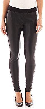9216d116fa0dc jcpenney Ana Faux Leather Front Ponte Knit Leggings, $44 | jcpenney ...