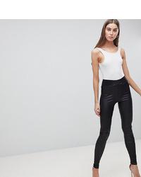 9b1fcffa24f5a ... Asos Tall Asos Design Tall Leather Look Leggings With Elastic Slim Waist