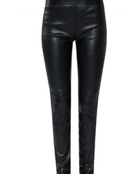 Saint Laurent Black Leather Leggings