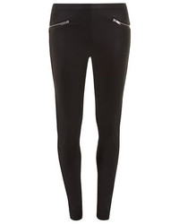 Dorothy Perkins Black Leather Look Pu Front Tregging