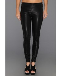 Blank NYC Black Vegan Leather Legging In Pussy Cat