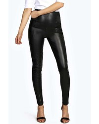 148b83267ee9 Boohoo Carla Wet Look Leggings Out of stock · Boohoo Madeline Leather Look  Elastic Waist Tregging