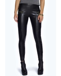 10a647a4140d Women's Black Leather Leggings from BooHoo | Women's Fashion ...