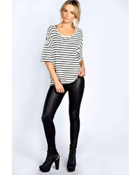 352896e6b769 Boohoo Carla Wet Look Leggings, $10 | BooHoo | Lookastic.com