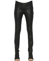 Coated Stretch Viscose Jersey Leggings