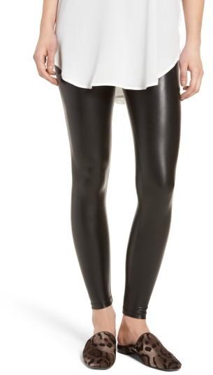 cd95987f9d600 ... Black Leather Leggings David Lerner Elliot High Waist Faux Leather  Leggings ...