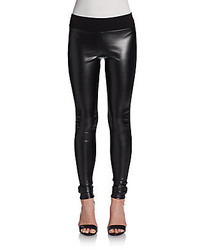 Vigoss Faux Leather Paneled Leggings