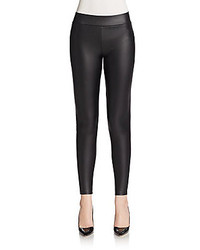 Willow & Clay Faux Leather Paneled Leggings