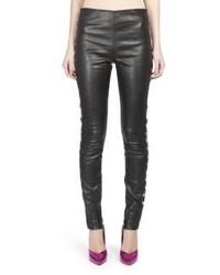 Saint Laurent Heart Stud Leather Leggings
