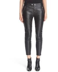 Saint Laurent Lambskin Leather Leggings