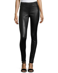 Neiman Marcus Leather Collection Stretch Leather Leggings