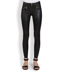 Givenchy Leather Zipper Leggings