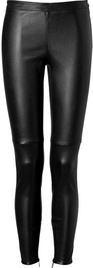 eb9626f67991 Burberry London Leather Leggings In Black