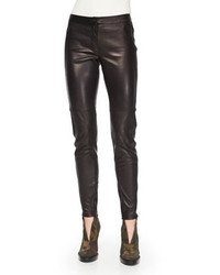 Burberry London Stretch Leather Leggings Black