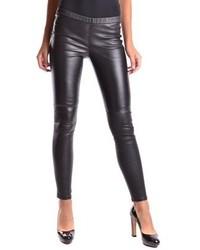 Michl By Michl Kors Black Leather Leggings