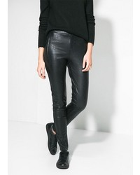 Mango Outlet Outlet Faux Leather Leggings