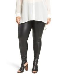 Lysse Plus Size High Waist Faux Leather Leggings